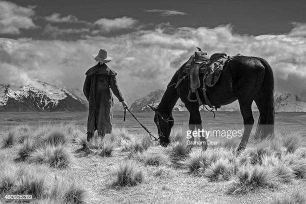 CONTENT] mackenzie country canterbury new zealand cowgirl and her horse farm station
