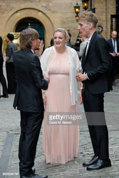 Mackenzie Crook Daisy May Cooper and Charlie Cooper arrive at the British Academy Television Craft Awards held at The Brewery on April 22 2018 in...