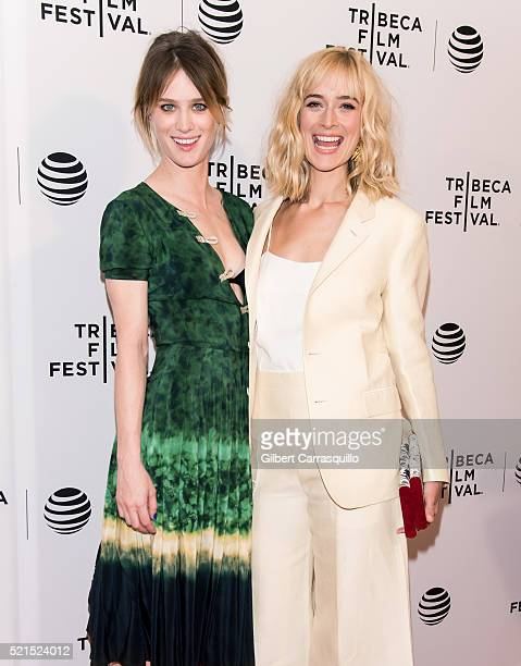 Mackenzie Davis and Caitlin FitzGerald attend 'Always Shine' Premiere during 2016 Tribeca Film Festivalat Chelsea Bow Tie Cinemas on April 15 2016 in...