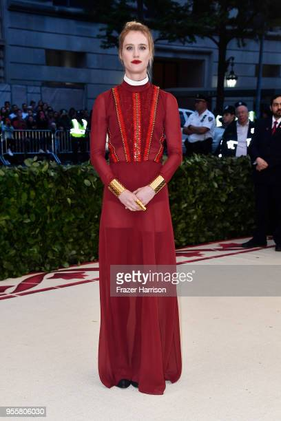 Mackenzie Davis attends the Heavenly Bodies Fashion The Catholic Imagination Costume Institute Gala at The Metropolitan Museum of Art on May 7 2018...