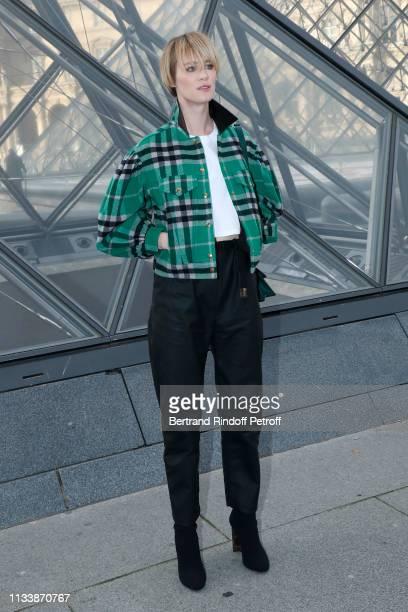 Mackenzie Davis attends the Louis Vuitton show as part of the Paris Fashion Week Womenswear Fall/Winter 2019/2020 on March 05 2019 in Paris France