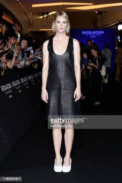 Mackenzie Davis attends the Seoul premiere of 'Terminator Dark Fate' on October 21 2019 in Seoul South Korea The film will open on October 30 in...
