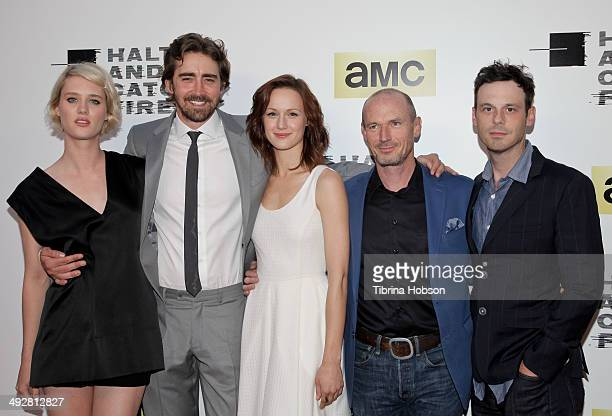 Mackenzie Davis Lee Pace Kerry Bishe Toby Huss and Scoot McNairy attend AMC's new series 'Halt And Catch Fire' Los Angeles premiere at ArcLight...