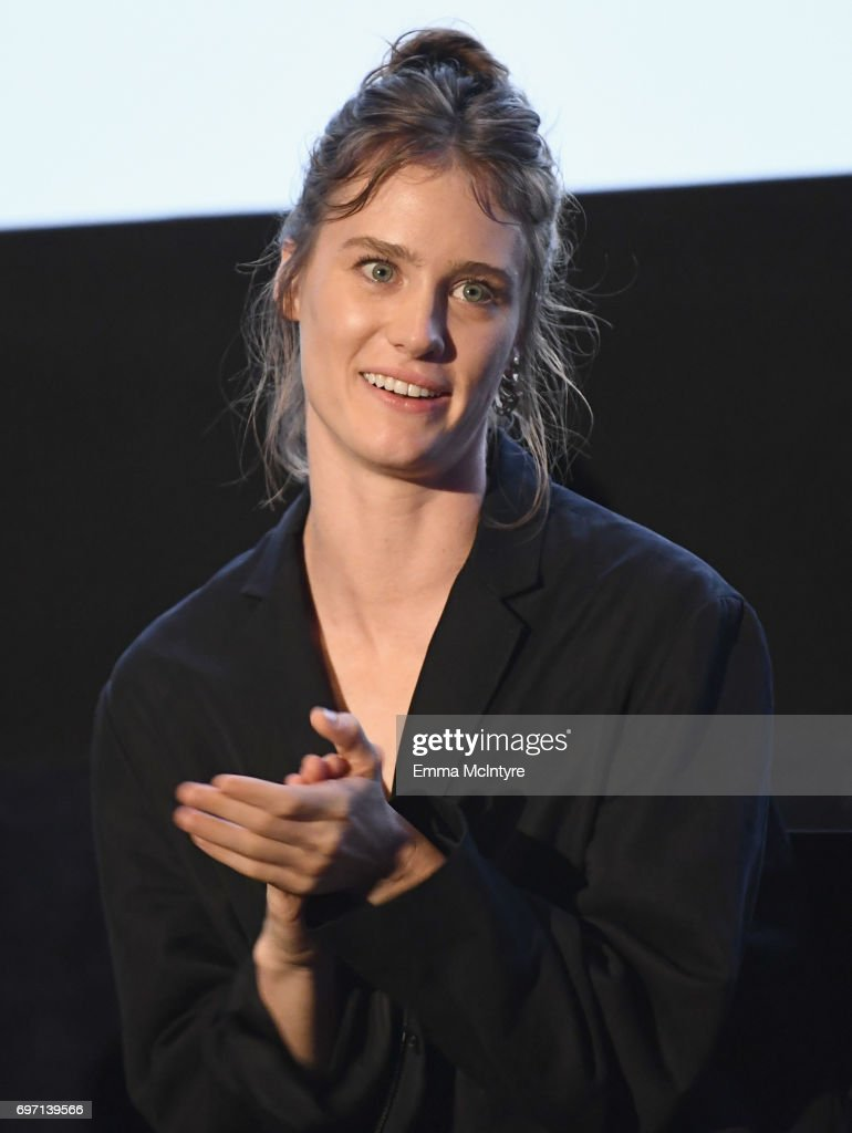 Mackenzie Davis speaks at the 'Izzy Gets The Fuck Across Town' and 'Ok, Call Me Back' Premieres during the 2017 Los Angeles Film Festival at Arclight Cinemas Culver City on June 17, 2017 in Culver City, California.