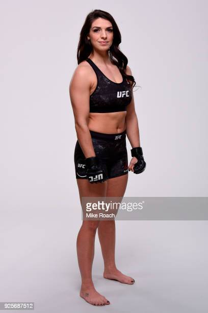 Mackenzie Dern of Brazil poses for a portrait during a UFC photo session on February 28 2018 in Las Vegas Nevada