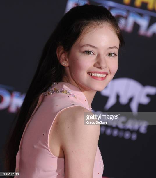 """Mackenzie Foy arrives at the premiere of Disney and Marvel's """"Thor: Ragnarok"""" at the El Capitan Theatre on October 10, 2017 in Los Angeles,..."""