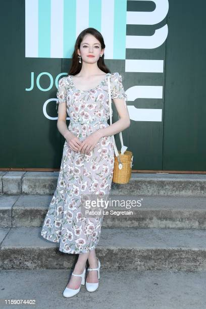 Mackenzie Foy attends miu miu club event at Hippodrome d'Auteuil on June 29 2019 in Paris France