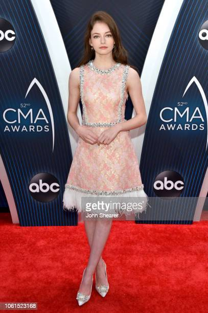 Mackenzie Foy attends the 52nd annual CMA Awards at the Bridgestone Arena on November 14 2018 in Nashville Tennessee