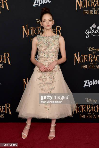 Mackenzie Foy attends the premiere of Disney's Nutcracker And The Four Realms at the Ray Dolby Ballroom on October 29 2018 in Hollywood California