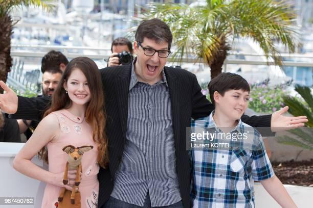 Mackenzie Foy le réalisateur Mark Osborne et Riley Osborne lors du photocall du film 'Le Petit Prince' pendant le 68eme Festival du Film Annuel au...