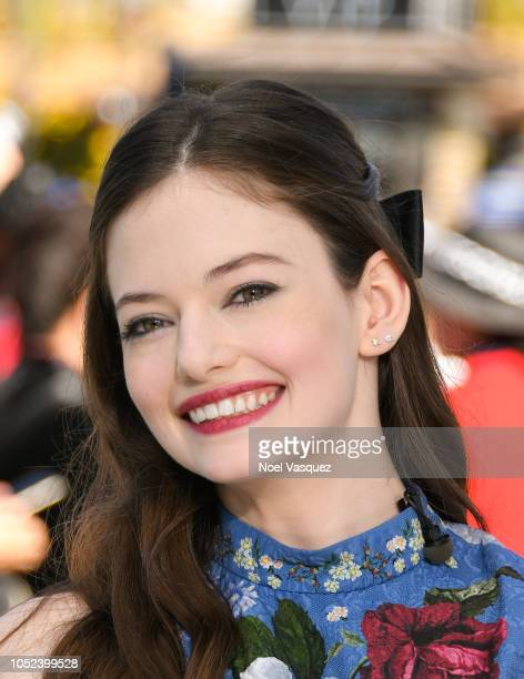 Mackenzie Foy visits Extra at Universal Studios Hollywood on October 17 2018 in Universal City California