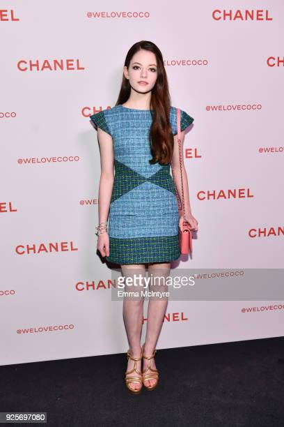 Mackenzie Foy wearing Chanel attends a Chanel Party to celebrate the Chanel Beauty House and @WELOVECOCO at Chanel Beauty House on February 28 2018...