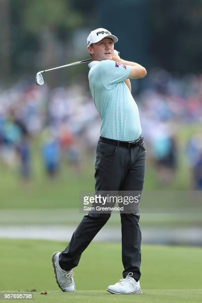 Mackenzie Hughes of Canada plays a shot on the sixth hole during the third round of THE PLAYERS Championship on the Stadium Course at TPC Sawgrass on...