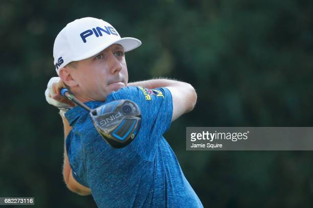 Mackenzie Hughes of Canada plays his shot from the 11th tee during the second round of THE PLAYERS Championship at the Stadium course at TPC Sawgrass...