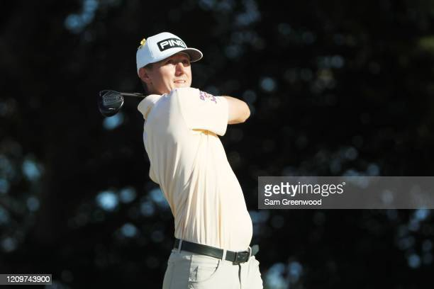 Mackenzie Hughes of Canada plays his shot from the 14th tee during the final round of the Honda Classic at PGA National Resort and Spa Champion...