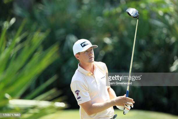 Mackenzie Hughes of Canada plays his shot from the second tee during the final round of the Honda Classic at PGA National Resort and Spa Champion...