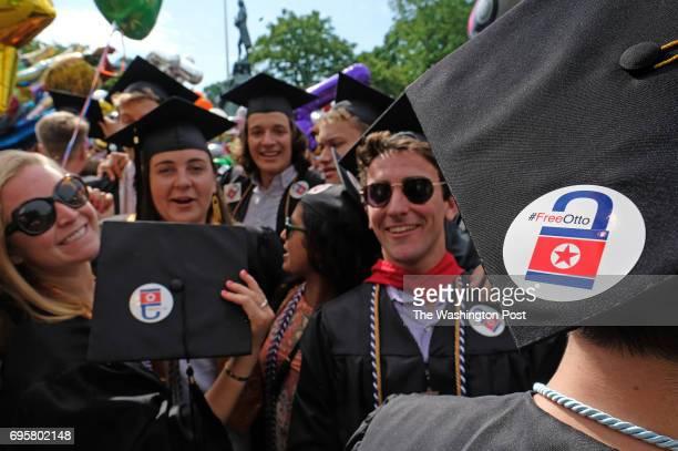 Mackenzie Karnes of Williamsburg Va Rosemary O'Hagan of Richmond Va Sanjana Sekhar of NY and Zach Gelfand of Mt Kisco NY celebrate graduation at the...