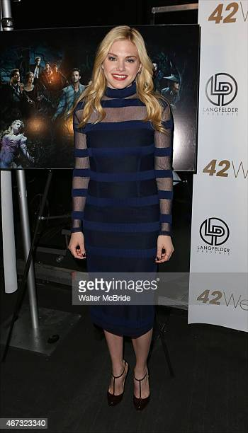 Mackenzie Mauzy attends 'A Musical Tribute to Stephen Sondheim' at 42West on March 22 2015 in New York City