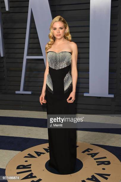 MacKenzie Mauzy attends the 2018 Vanity Fair Oscar Party hosted by Radhika Jones at the Wallis Annenberg Center for the Performing Arts on March 4...