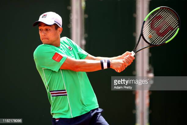 Mackenzie McDonald of The United States during his mens singles first round match against Yoshihito Nishioka of Japan during Day three of the 2019...