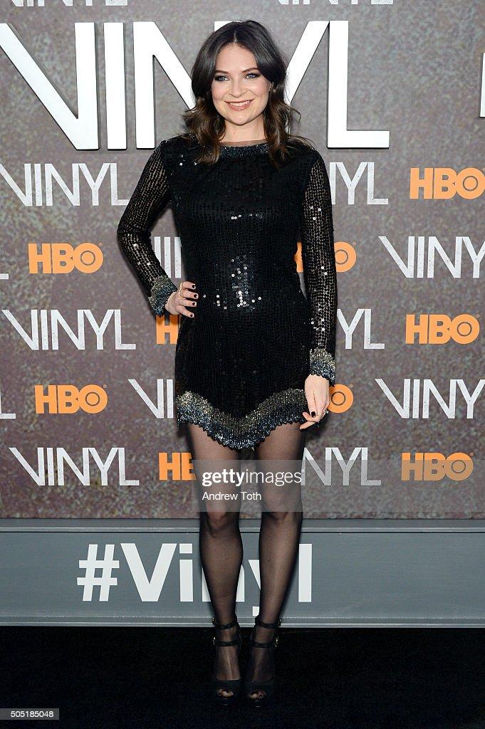 MacKenzie Meehan attends the 'Vinyl' New York premiere at Ziegfeld Theatre on January 15, 2016 in New York City.