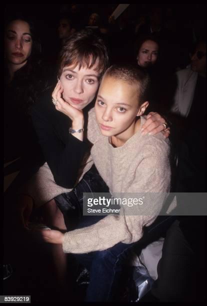Mackenzie Phillips and half-sister Bijou Phillips attend the Nicole Miller fashion show, 1996. New York.
