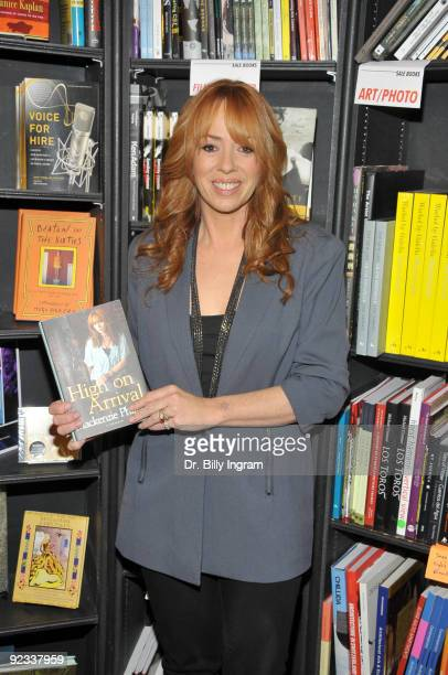 Mackenzie Phillips signs copies of her book ''High On Arrival'' at the Book Soup on October 25 2009 in West Hollywood California