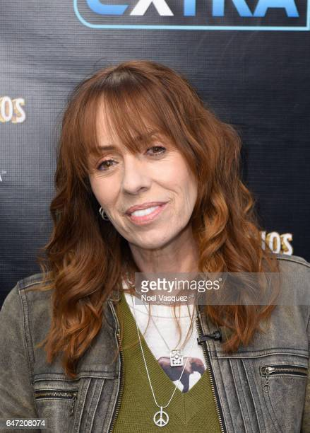Mackenzie Phillips visits Extra at Universal Studios Hollywood on March 2 2017 in Universal City California