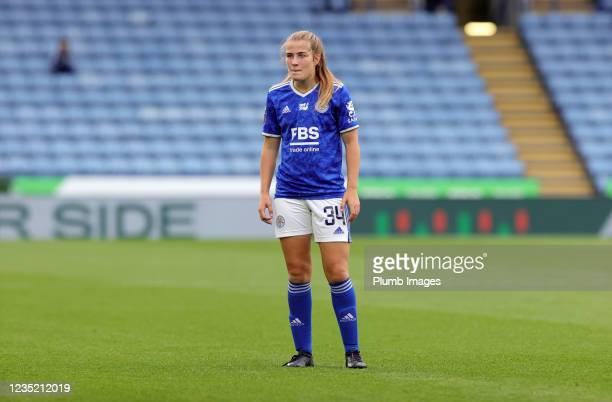 Mackenzie Smith of Leicester City Women during the Barclays FA Women's Super League match between Leicester City Women and Manchester United Women at...