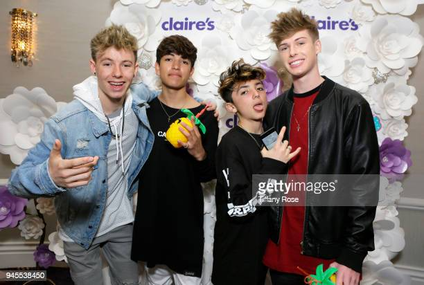 Mackenzie Sole Sebastian Topete Aaron Melloul and Blake Gray attend Claire's Dream Big Awards at the Beverly Hills Hotel on April 12 2018 in Beverly...