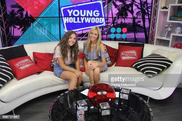 Mackenzie Ziegler and host Tracy Behr at the Young Hollywood Studio on June 16 2017 in Los Angeles California