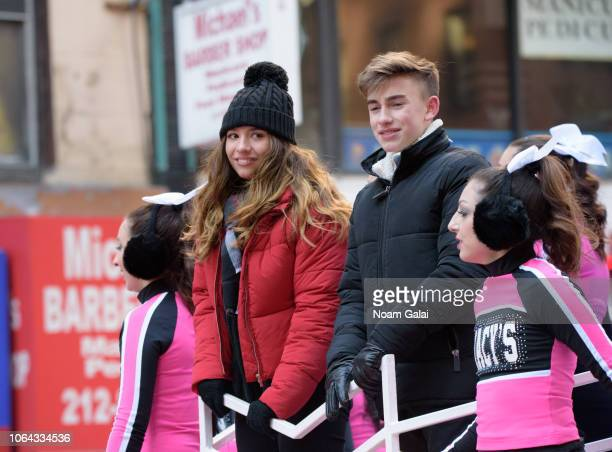 Mackenzie Ziegler and Johnny Orlando attend the 2018 Macy's Thanksgiving Day Parade on November 22 2018 in New York City