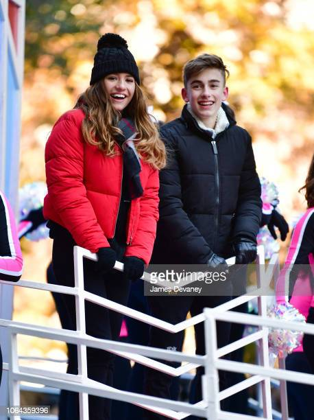 Mackenzie Ziegler and Johnny Orlando attend the 92nd Annual Macy's Thanksgiving Day Parade on November 22 2018 in New York City