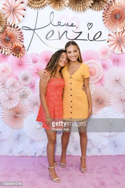 Mackenzie Ziegler and Maddie Ziegler attend Mackenzie Ziegler Launches New Beauty Line 'Love Kenzie' on September 16 2018 in West Hollywood California
