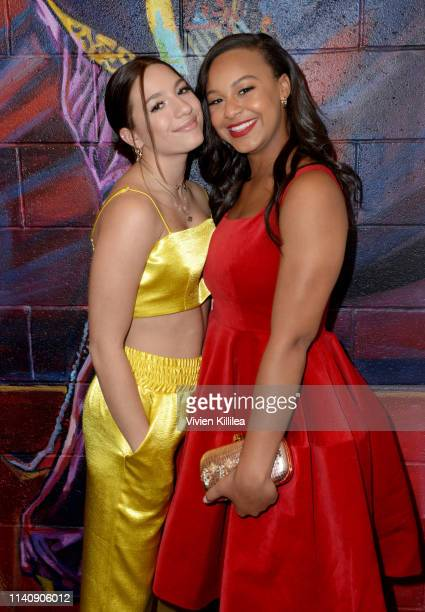 Mackenzie Ziegler and Nia Sioux attend Ending Youth Homelessness A Benefit for My Friend's Place at Hollywood Palladium on April 06 2019 in Los...