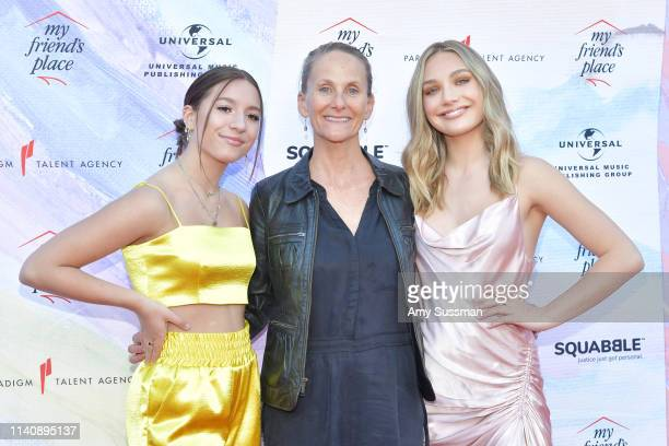 Mackenzie Ziegler Heather Carmichael Executive Director at My Friend's Place and Maddie Ziegler attend Ending Youth Homelessness A Benefit For My...