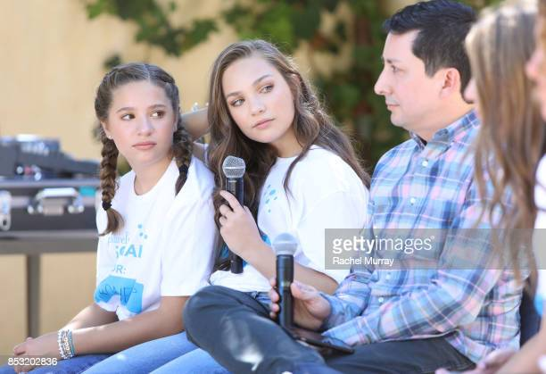 Mackenzie Ziegler Maddie Ziegler and Instagram's Justin Antony speak during the panel discussion at the Positively Social launch event on September...