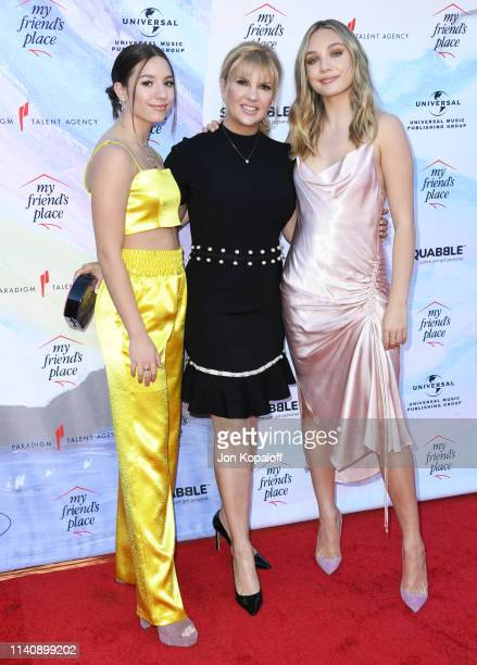 """Mackenzie Ziegler, Melissa Gisoni and Maddie Ziegler attend """"Ending Youth Homelessness: A Benefit For My Friend's Place"""" Gala at Hollywood Palladium..."""