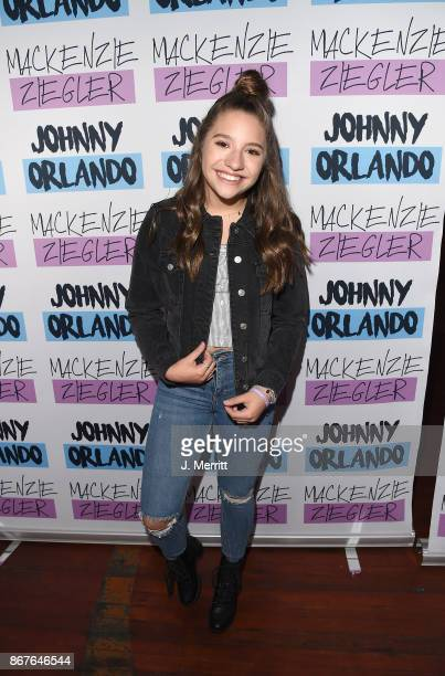 Mackenzie Ziegler poses at a meet and greet during their 'Day NIght' tour at Mr Smalls on October 28 2017 in Millvale Pennsylvania
