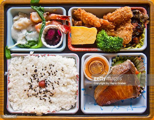 Mackerel and chicken tempura bento