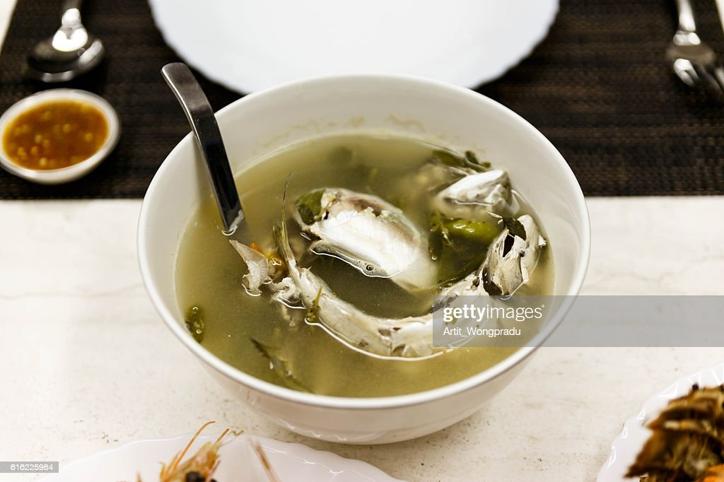 Mackerel Soup with Sour and Spicy Taste : Stock Photo