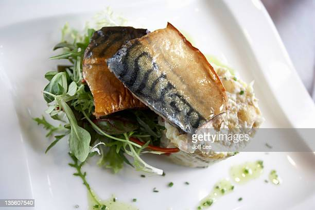 Mackerel with potato salad