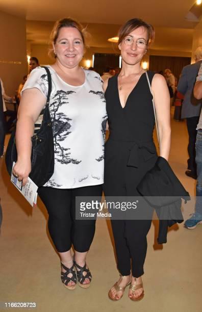 Mackie Heilmann and Maike von Bremen attend the 'Zuhause bin ich Darling' theater premiere at Komoedie am Kurfuerstendamm im SchillerTheater on...