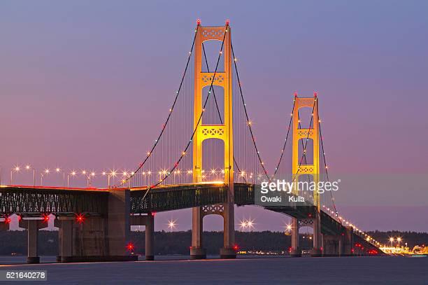 Mackinac Bridge at Twilight