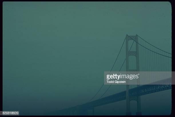 Mackinac Bridge in the Fog