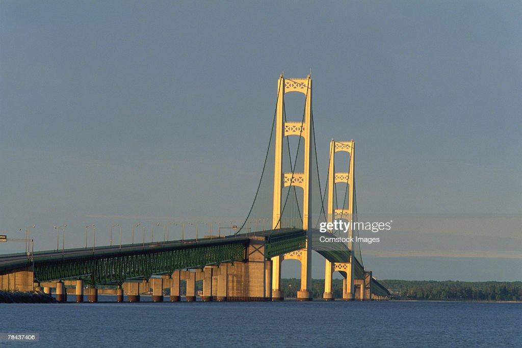 Mackinac Bridge , Michigan , USA : Stockfoto