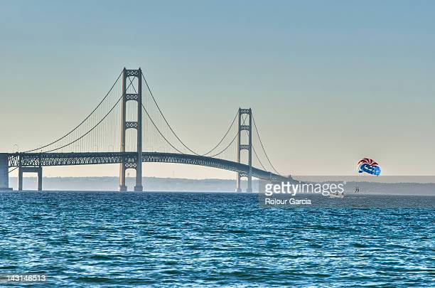 mackinac bridge - rolour garcia stock pictures, royalty-free photos & images