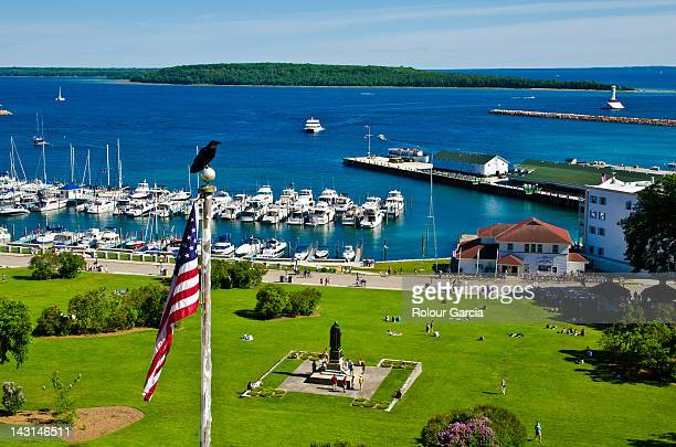 mackinac island - rolour garcia stock pictures, royalty-free photos & images