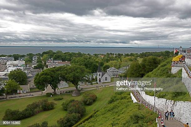 mackinac island-fort mackinac - mackinac island stock pictures, royalty-free photos & images