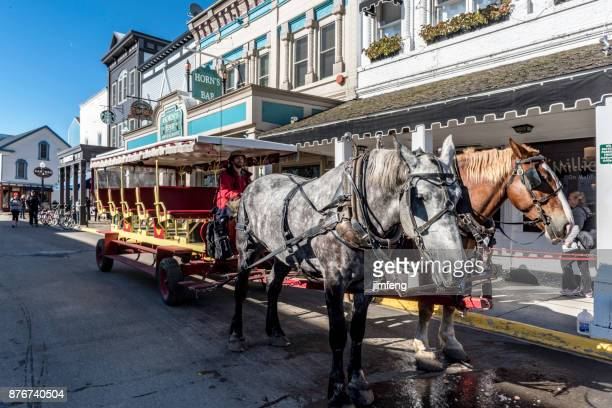mackinac street - mackinac island stock pictures, royalty-free photos & images